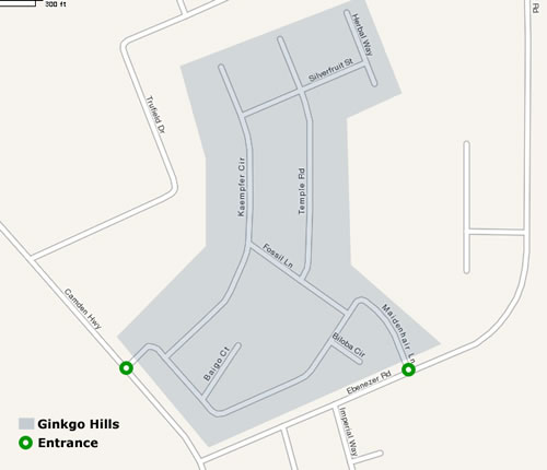 Ginkgo Hills Map and Streets
