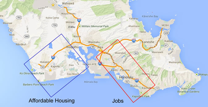Hawaii Traffic Housing and Jobs
